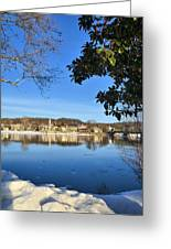 View Of Lambertville Nj From New Hope Pa-winter 1  Greeting Card