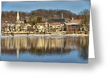 View Of Lambertville Nj From New Hope Pa-winter 2  Greeting Card