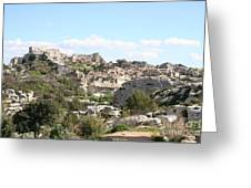 View Of Les Baux De Provence Greeting Card