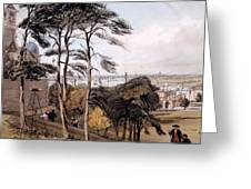 View Of London From Greenwich Park, 1842 Greeting Card