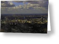 view of London within the Clouds Greeting Card