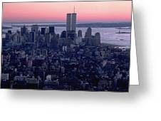 View Of Lower Manhattan Greeting Card