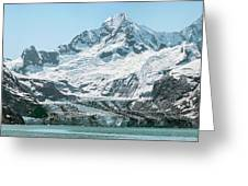 View Of Margerie Glacier In Glacier Bay Greeting Card