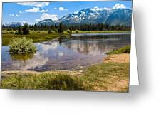 View Of Mount Tallac From Taylor Creek Beach Lake Tahoe Greeting Card