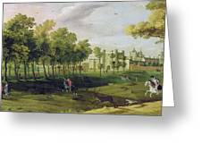 View Of Nonsuch Palace In The Time Greeting Card