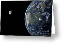 View Of North America With Rise In Sea Greeting Card by Walter Myers