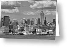 View Of Nyc Greeting Card