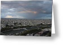 View Of Paris Greeting Card