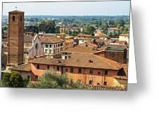View Of Pietrasanta Greeting Card