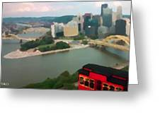 View Of Pittsburgh From Mt. Washington Greeting Card