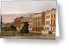 View Of Portman Square, North Side, 1816 Greeting Card