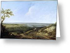 View Of Portsmouth From Portsdown Hill Greeting Card
