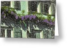 View Of Purple Greeting Card