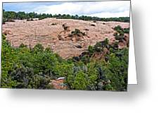 View Of Rock Dome Surface From Sandal Trail Across The Canyon In Navajo National Monument-arizona Greeting Card