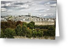 View Of Sacre Coeur From The Musee D'orsay Greeting Card