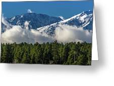 View Of San Juan Mountains With Clouds Greeting Card