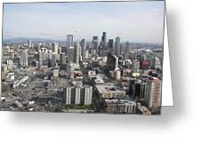 View Of Seattle Greeting Card