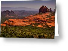 View Of Sedona From The East Greeting Card