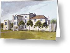 View Of Sir Noel De Carons House, 1809 Wc On Paper Greeting Card