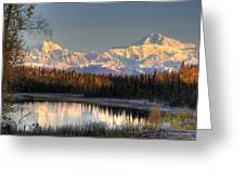 View Of Southside Mount Mckinley And Greeting Card
