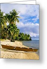 View Of Tahiti Greeting Card