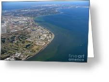 View Of Tampa Harbor Before Landing Greeting Card