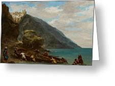 View Of Tangier From The Seashore Greeting Card