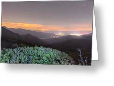 View Of The Appalachians From Craggy Pinnacle Near The Blue Ridg Greeting Card