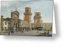 View Of The Arsenale. Venice Greeting Card