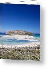View Of The Balos Beach, Gramvousa Greeting Card