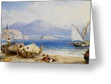 View Of The Bay Of Naples Greeting Card