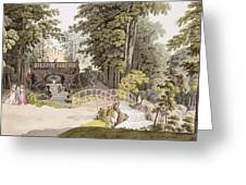 View Of The Cascade At Erlaw, Vienna Greeting Card