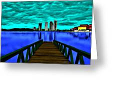 View Of The City Greeting Card
