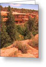 View Of The Cliffs From The Cliff Greeting Card