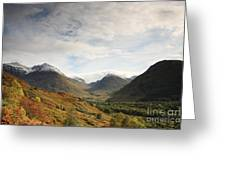 View Of The Glencoe Mountains Greeting Card