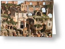 View Of The Interior Of The Colosseum Greeting Card