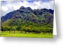 View Of The Koolau Range Greeting Card