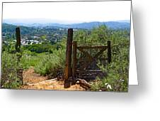 View Of The Ojai Valley Greeting Card
