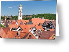 View Of The Old Town With St. Martins Greeting Card