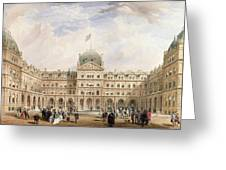 View Of The Quadrangle Of The New Greeting Card