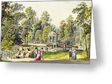 View Of The Temple Of Diana At Erlaw Greeting Card