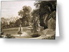View Of The Temple Of Suryah Greeting Card