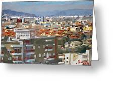 View Of Tirana From Dajti Mountain Greeting Card