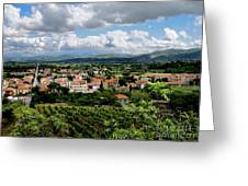 View Of Tuscany Greeting Card