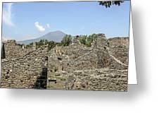 View Of Vesuvius Greeting Card