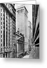 View Of Wall Street Greeting Card