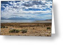 View Of Wasatch Range From Antelope Island Greeting Card