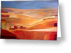 View Oil On Canvas Greeting Card