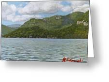 View On Lake Lure Greeting Card