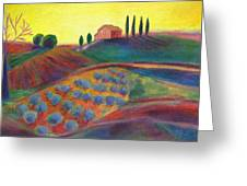 View On The Olive Grove Greeting Card